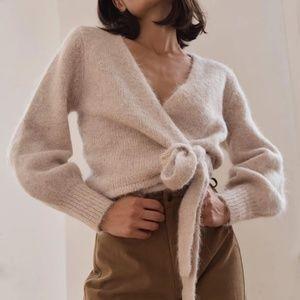 St. Agni Ruri Wrap Knit Cardigan Sweater Small